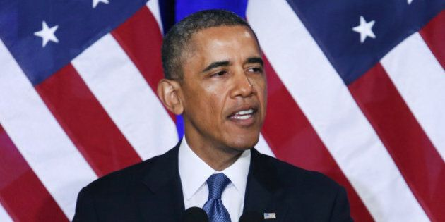 WASHINGTON, DC - JANUARY 17: U.S. President Barack Obama speaks about the National Security Agency (NSA)...