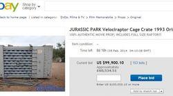 Une cage à vélociraptor de «Jurassic Park» en vente sur eBay
