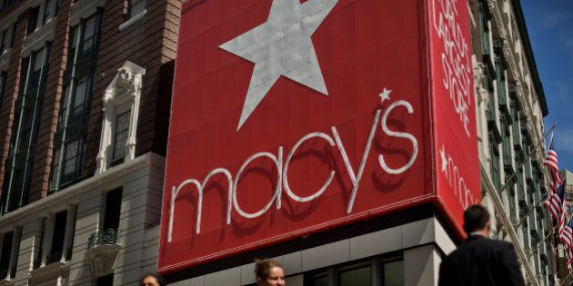 Pedestrians walk past a Macy's Inc. store in New York, U.S., on Friday, May 10, 2013. Retail sales in...