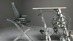 Ce «vélo-bureau» est une mini-centrale