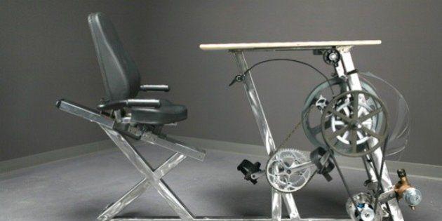 Ce vélo-bureau qui permet de produire de