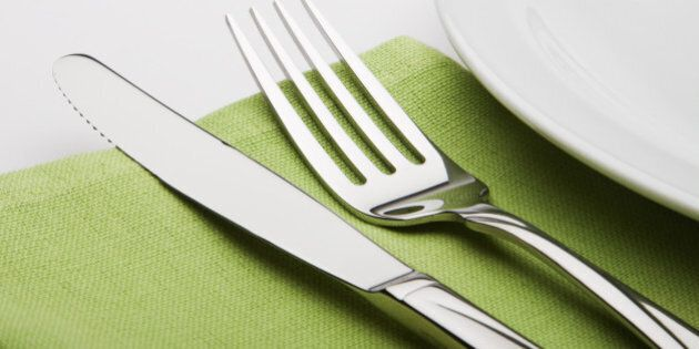 fork and knife on a