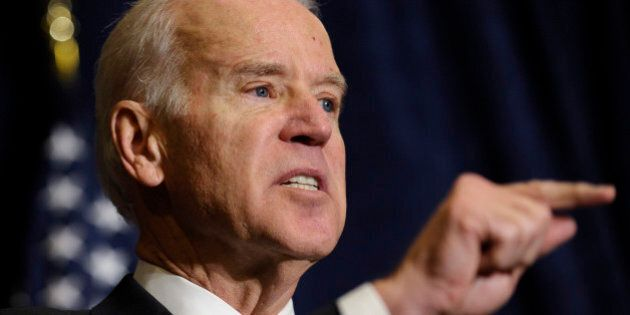 Vice President Biden speaks at the Association of State Democratic Chairs Meeting in Washington, Thursday,...
