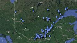 Carte interactive: les incidents environnementaux au Québec traités par