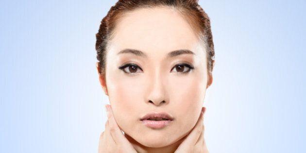 asian beauty face  closeup...