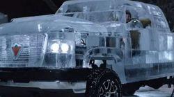 Insolite: un pick up presque entièrement fait en glace