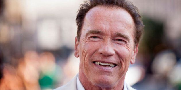 SAN DIEGO, CA - JULY 18: Arnold Schwarzenegger arrives for the 'Escape Plan' Premiere - Comic-Con International...