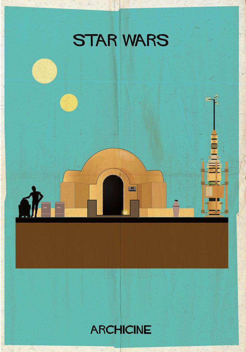 Des maisons de films cultes reproduites sur des affiches