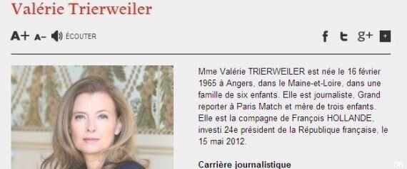 Valérie Trierweiler n'est plus première dame sur internet non