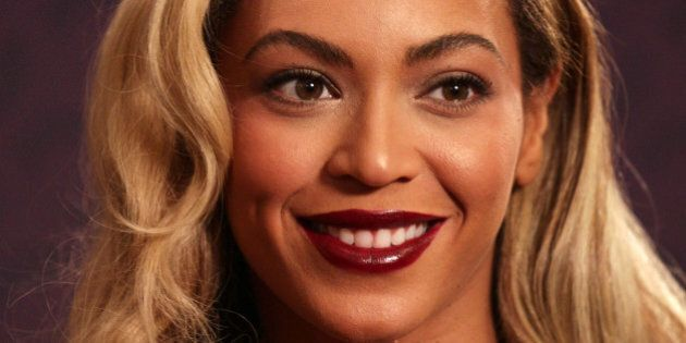 Beyonce Knowles-Carter at the Sound of Change Live concert held at Twickenham Stadium,