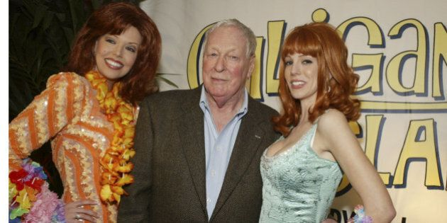 Russell Johnson and 'Ginger' characters during Warner Home Video's 'Gilligan's Island' DVD Launch Event at FantaSea Yatch Club in Marina del Rey, California, United States. (Photo by Lee Celano/WireImage for The Lippin Group)