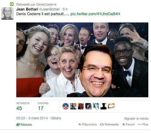 Peopolisation de Twitter: quand Oscar bat
