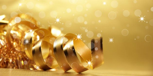golden theme with christmas...