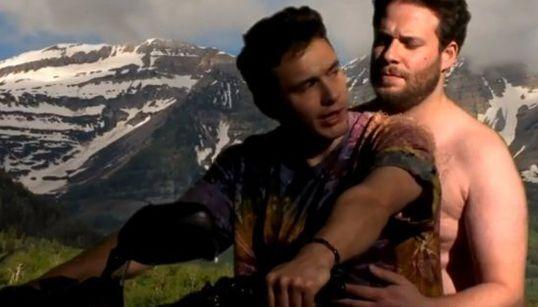 James Franco et Seth Rogen parodient le clip «Bound 2» de Kanye
