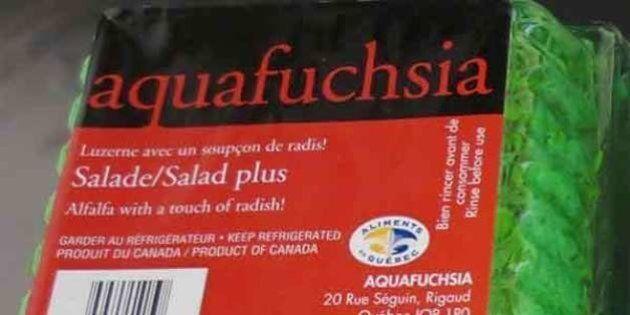 Rappel de luzerne Aquafuchsia qui pourrait être contaminée par la