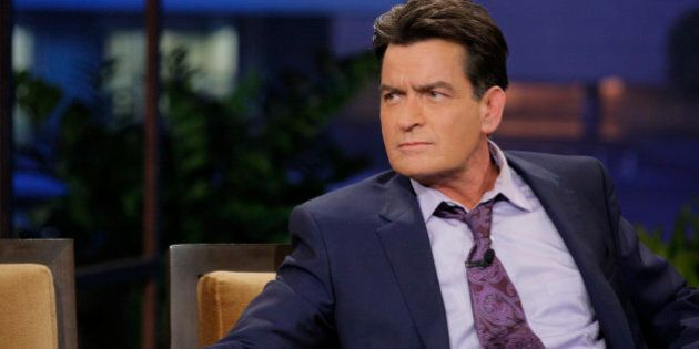 THE TONIGHT SHOW WITH JAY LENO -- Episode 4526 -- (EXCLUSIVE COVERAGE) -- Pictured: Actor Charlie Sheen...