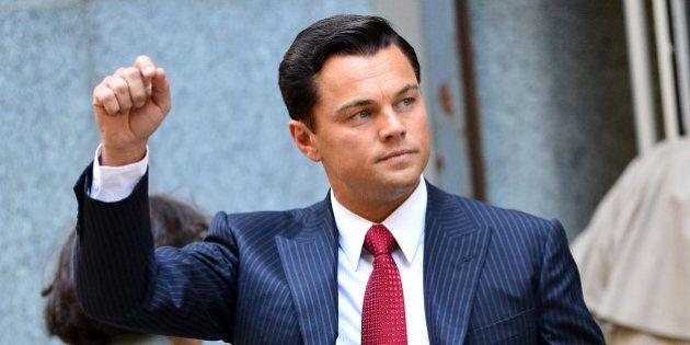NEW YORK, NY - SEPTEMBER 25: Leonardo DiCaprio seen on location for 'The Wolf of Wall Street' on September...