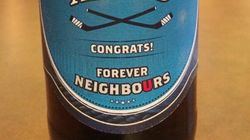 La bière envoyée par les États-Unis au Canada est plutôt