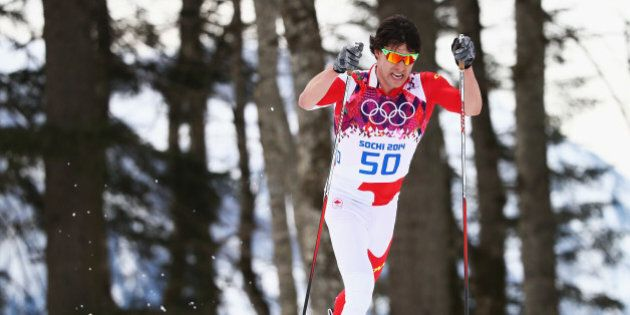 SOCHI, RUSSIA - FEBRUARY 14:  Alex Harvey of Canada competes during the Cross Country Men's 15km Classic on day seven of the Sochi 2014 Winter Oympics at Laura Cross-country Ski & Biathlon Center on February 14, 2014 in Sochi, Russia.  (Photo by Ryan Pierse/Getty Images)