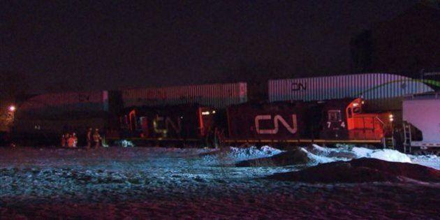 Déraillement de train : 3500 litres de diesel déversés à