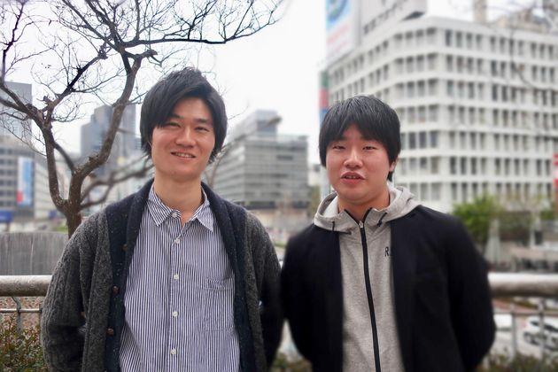BeU代表の名田憲史さん(左)とメンバーの小林暉さん(右)