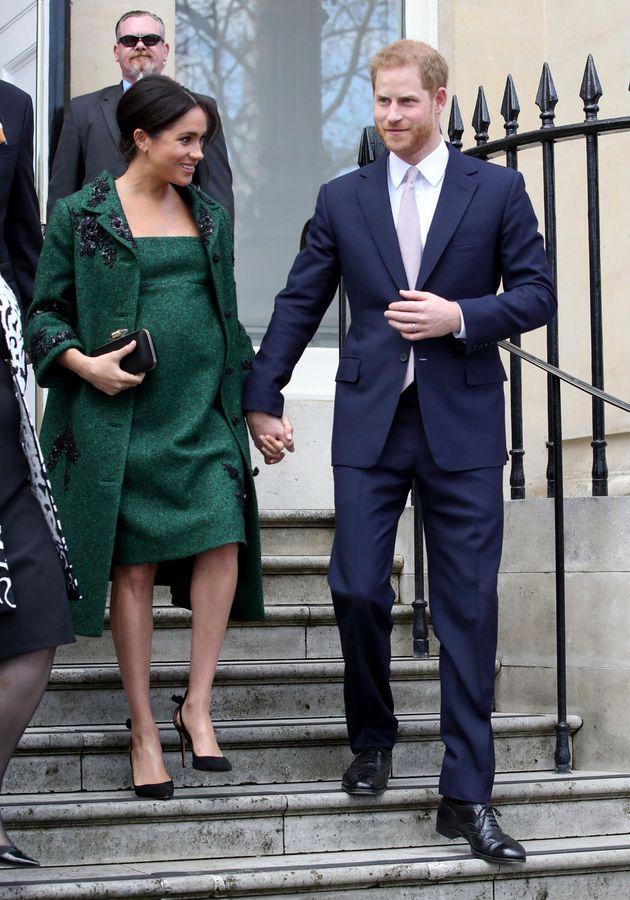왕실 행사에 참석한 해리 왕자와 메건 마클. 2019년