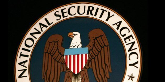 Fort Meade, UNITED STATES: (FILES): Thyis 25 January 2006 file photo shows the logo of the National Security...