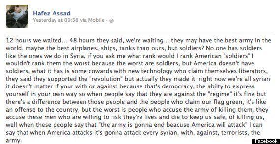 Un compte au nom d'Hafez Assad, le fils de 11 ans du président syrien, s'emporte sur