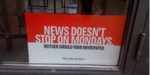 Faute de publicités, pas de sortie lundi pour le Globe and