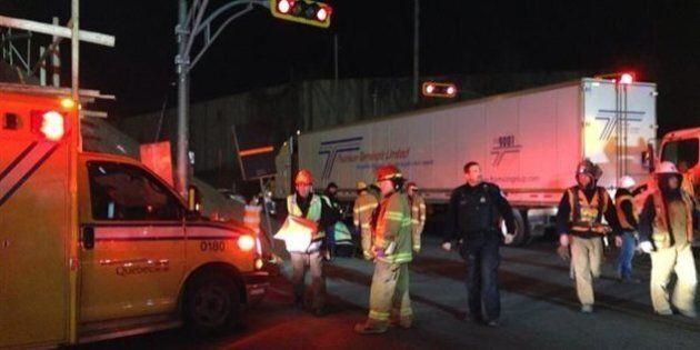 Deux ouvriers blessés dans Lachine par un automobiliste possiblement