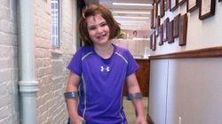 Boston: Cette survivante de 7 ans retrouve le