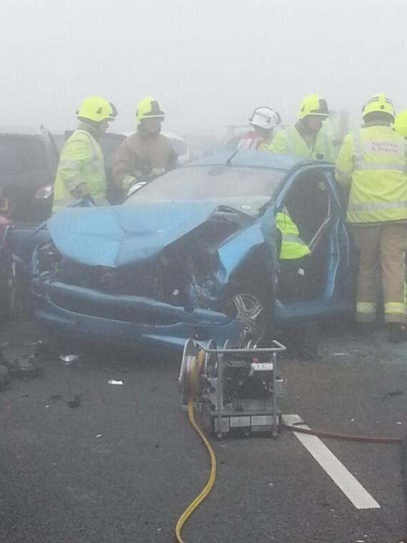 Un carambolage géant impliquant une centaine de véhicules fait 200 blessés en Angleterre