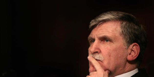 Washington, UNITED STATES: Canadian Lt. Gen. Romeo Dallaire, former commander of the United Nations peacekeeping...