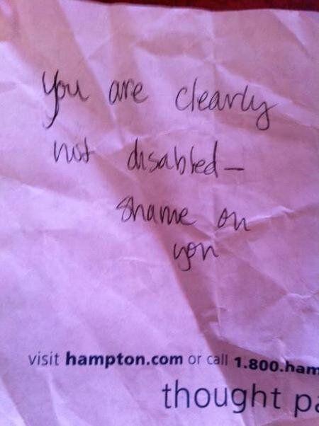 À l'auteur de la note anonyme laissée sur mon