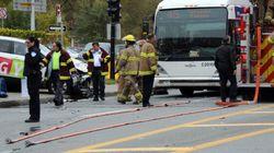 Une collision avec un autobus fait sept blessés à