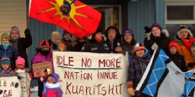 Des Montréalais manifestent leur appui aux émeutiers de