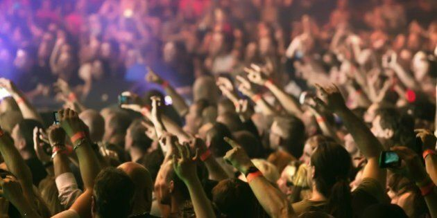 crowd at a music concert