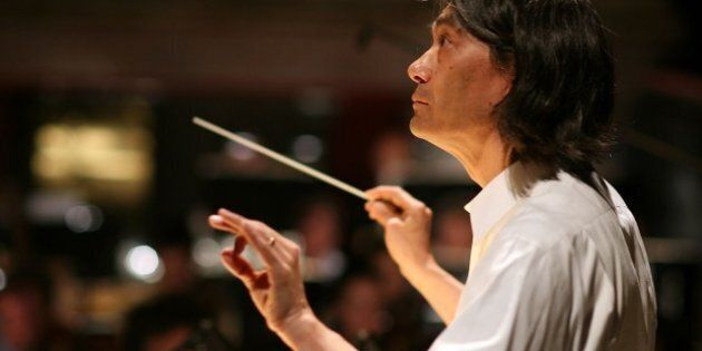 MUNICH, GERMANY - JUNE 25: U.S. conductor Kent Nagano conducts the rehearsal of the opera 'Alice in Wonderland'...