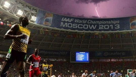 Bolt et l'éclair: une photo prise au bon