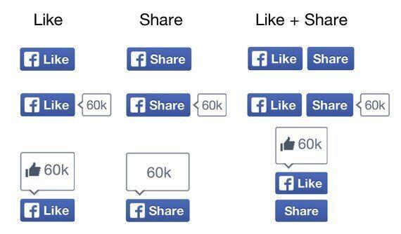 Facebook change le design de ses boutons de partage et retire le pouce du