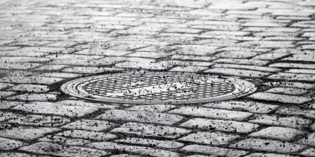 round steel sewer manhole