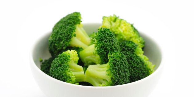 Close-up of Broccoli on white background not