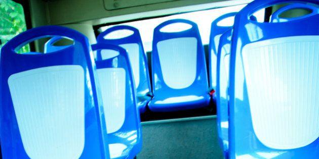 city vehicle bus empty seat