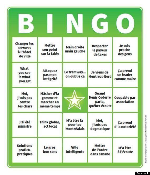 Projet Montréal lance un Bingo-Coderre