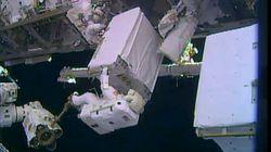 Sortie dans l'espace couronnée de succès pour deux astronautes de