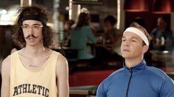 Les personnages de «Chest bras» dans une pub
