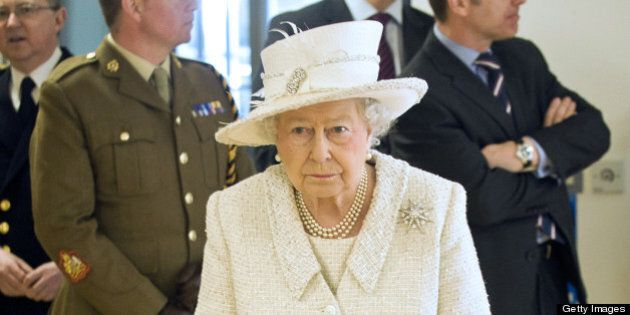 Britain's Queen Elizabeth II visits the Headley Court Defence Medical Rehabilitation Centre in Epsom,...