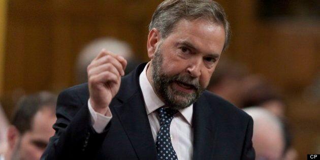 NPD: Thomas Mulcair promet de ne pas hausser l'imposition des plus fortunés une fois au