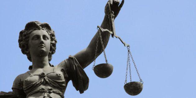 justice statue in frankfurt at...