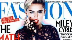Miley Cyrus, replendissante sur la une du Fashion Magazine